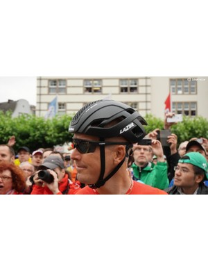 Lars Bak and his Lotto-Soudal teammates wore the new, adjustable Bullet aero helmet