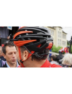 The R 10 comes with a snap-on cover for weather, and Orbea claims the narrow design makes it competitive with aero road helmets in terms of wind drag