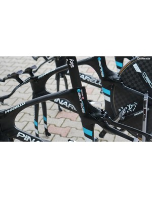 Defending champ Chris Froome has his bikes built and cleaned like everyone else on Team Sky