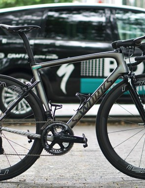 Peter Sagan has a custom camo-fade paint job on his new Specialized S-Works Tarmac