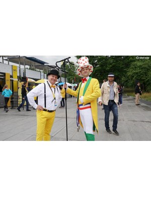 Outside of the circus that is the Tour de France, these men would turn heads. Inside the Tour, it's fairly normal