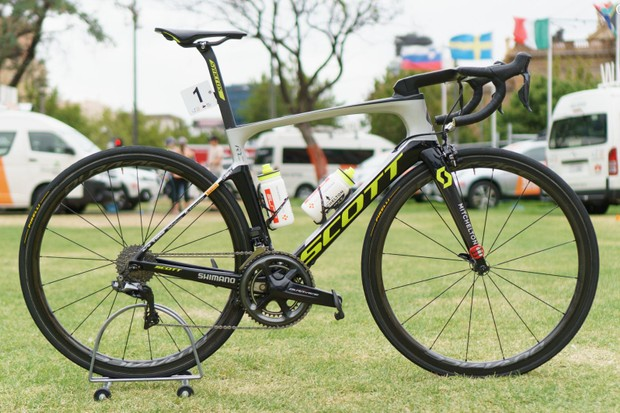 Daryl Impey took the win on stage four of the 2019 Tour Down Under on this Scott Foil RC