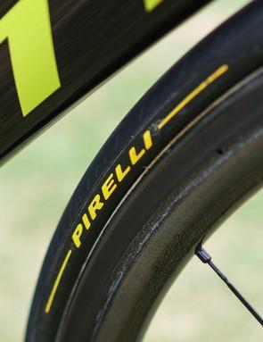 Pirelli supplies the team with tubular tyres