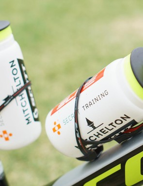 The team uses Elite bottle cages and bottles