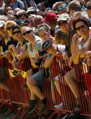 Spectators at the Tour