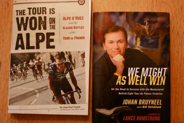 Two books most likely on Lance's bookshelf these days.