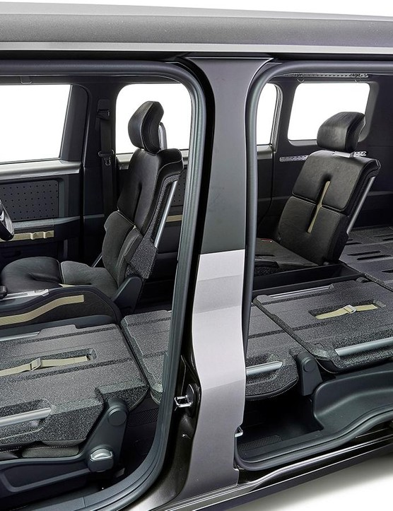 Large sliding doors and ample cargo space inside the Fj Cruiser