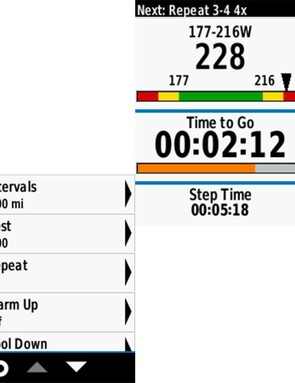 Garmin and some other brands have workout functions on the computers themselves, which can be tailored with the computer and, often, desktop software