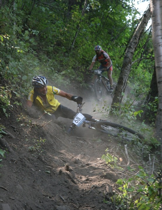 The final singletrack claimed its share of victims