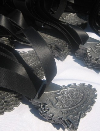 Finishers' medals