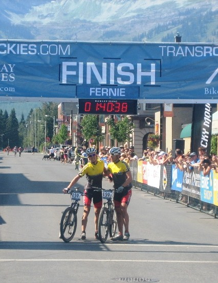 Team United Cycles crosses the finish line first, one again