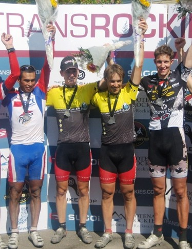 The overall podium: La Ruta; United Cycles & Rocky Mountain/EAsports