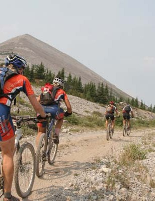 Riders on top of the world in the 2006 TransRockies