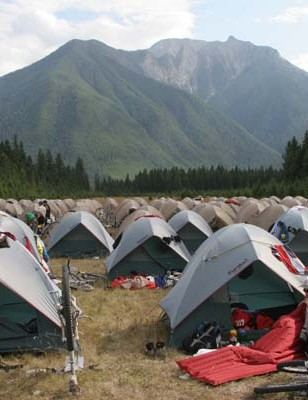 In-tents effort gets the TransRockies race village between venues