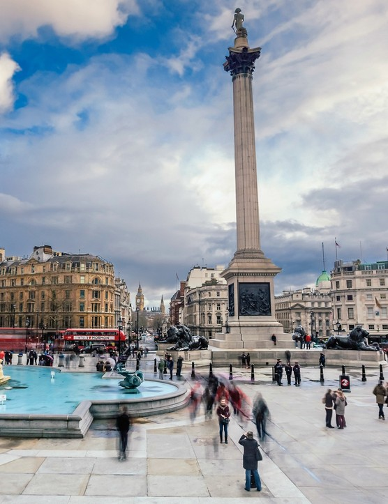 Trafalgar Square is always heaving with tourists — which could be why it's the second most dangerous place to cycle in the capital