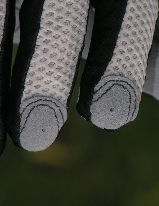 Reinforced fingertips slow down wear