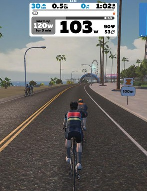 Adrian's Zwift world is more scenic than the real thing...