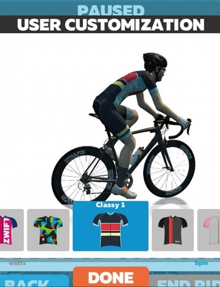 Zwift allows you to customise your avatar's kit and more