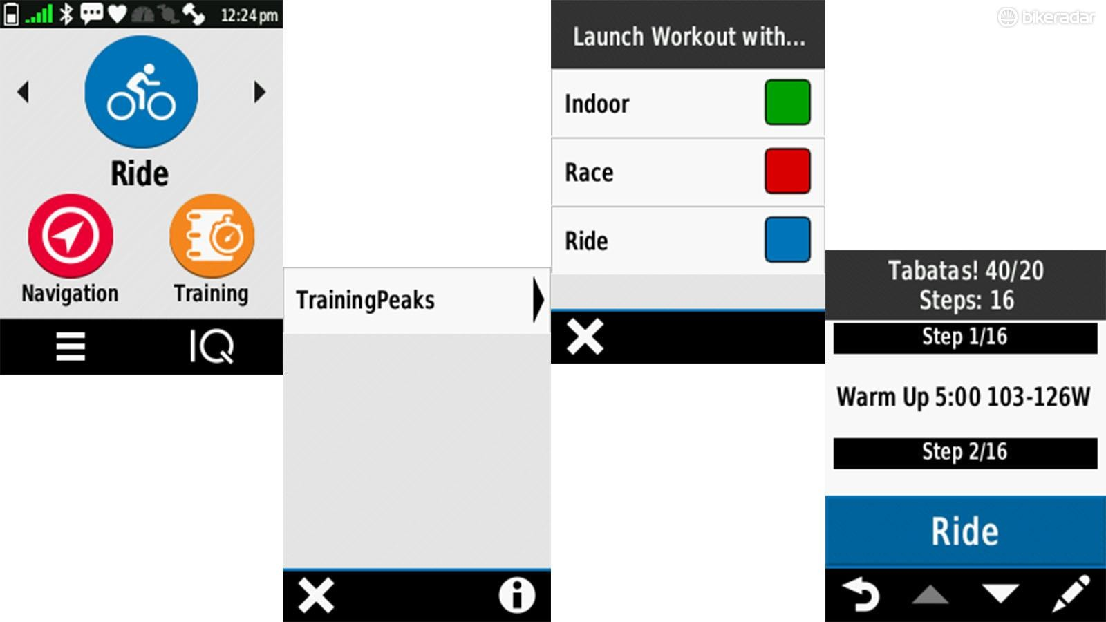 Once everything is paired, you can navigate to your daily workout pretty easily