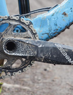The Truvativ crank already bears the scars of my unique pedalling style
