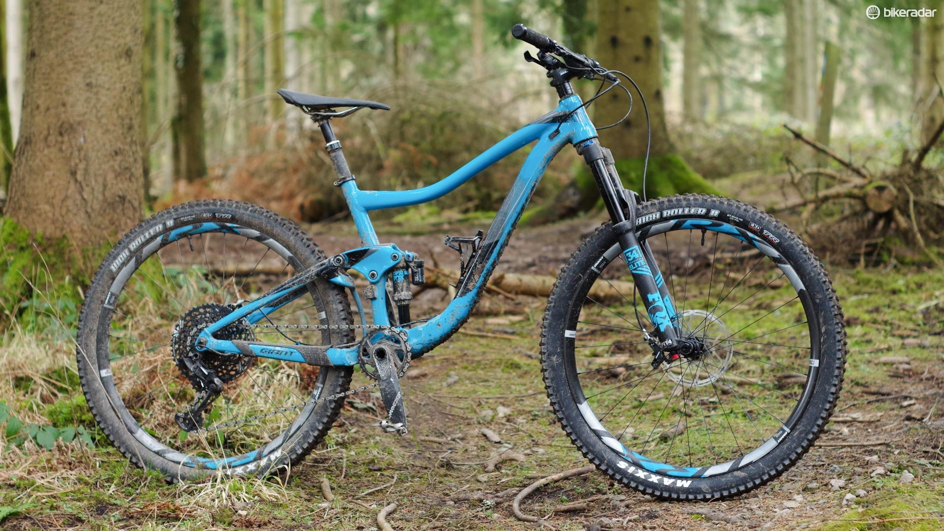 The Giant Trance 1 has an alloy frame and a big spec