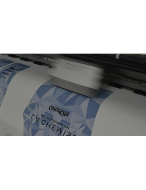 The speedy transfer printer in action