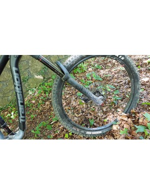 The RockShox Yari fork shares a chassis with the Lyrik