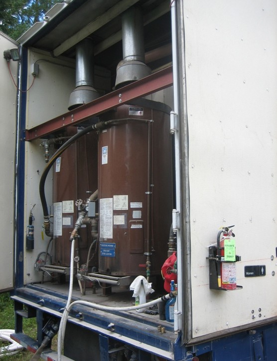These boilers keep the hot water coming