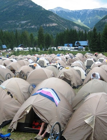 TransRockies accommodation is in-tents.