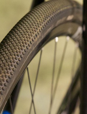 The 35mm Schwalbe G1 tires proved a spec highlight