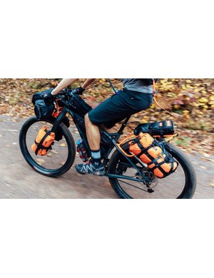 Integrated front and rear racks allow riders to carry nearly anything