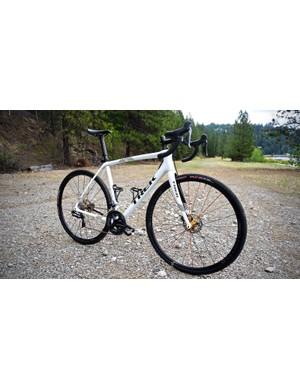 The 2018 Trek Boone Disc RSL frameset is a top-shelf cyclocross racing machine