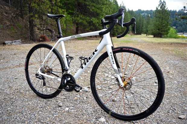 The 2018 Trek Boone Disc RSL frameset is a top-shelf cyclocross racing machine