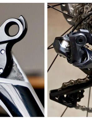 The rear derailleur hanger was top of the 2018 Best Cross Bikes — super stiff and effectively three points of engagement keep shifting flawless