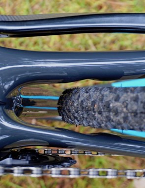 It might be a little on the tight side, but Trek claims 40mm tires will fit in the rear too
