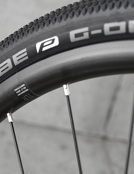 At higher pressure the Schwalbe G-One tyres didn't hold the Trek back on tarmac