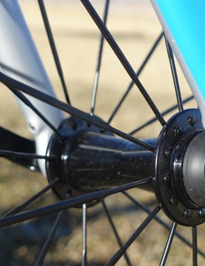 Trek's Domane fork is designed to absorb road vibrations thanks to forward set dropouts. Those dropouts also feature hidden fender mounts