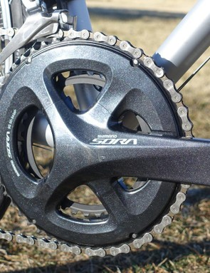 Shimano's Sora 9-speed group surprises with performance essentially on par with more expensive options