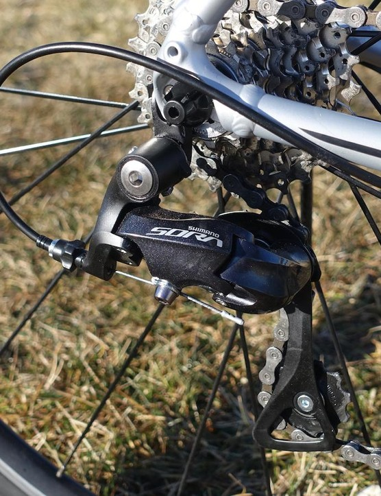 Shifting, both front and rear, was crisp, though a set of higher quality cables would improve shifting action even more