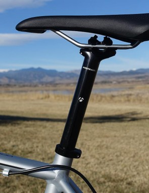 An easy-to-use, two-bolt, aluminum seatpost holds Bontrager's well-cushioned Montrose Comp saddle