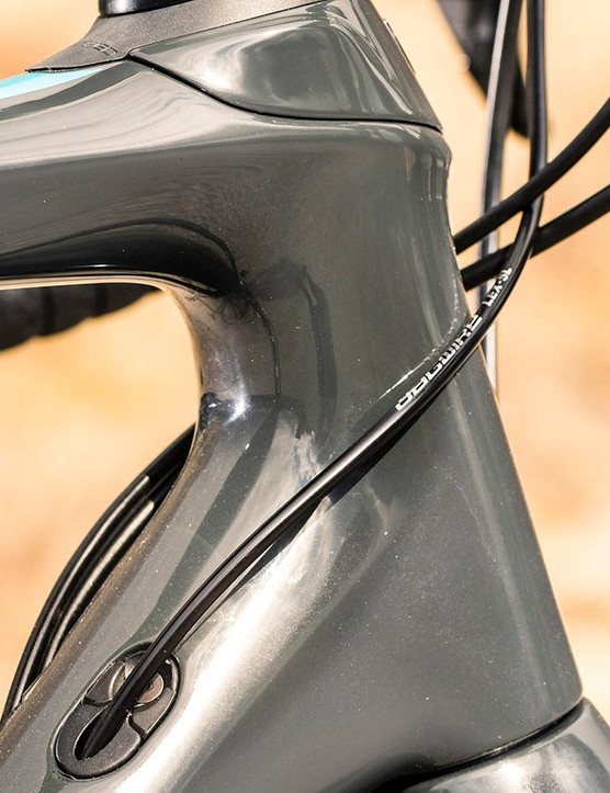 The Trek Overdrive steerer helps give the Domane a planted feel
