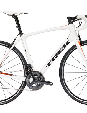 The Trek Domane SLR will come in disc and rim-brake versions. This is the SLR 7