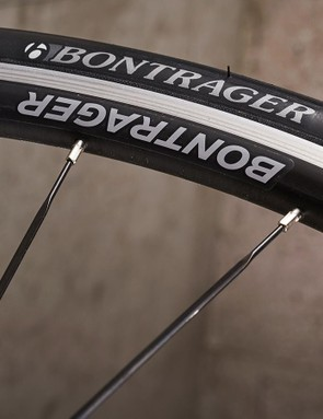 In-house component brand Bontrager provide the rolling stock