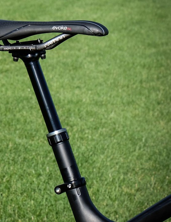 So far Bontrager's new Drop Line seatpost has proven smooth and reliable. Stay tuned for a full review