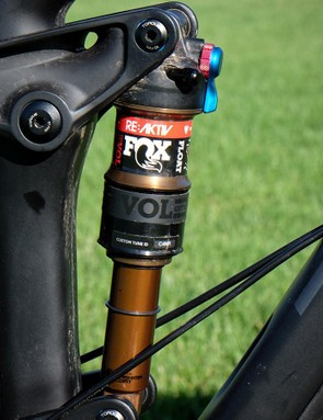 Trek's RE:aktiv valving is incorporated into the Fox Float shock