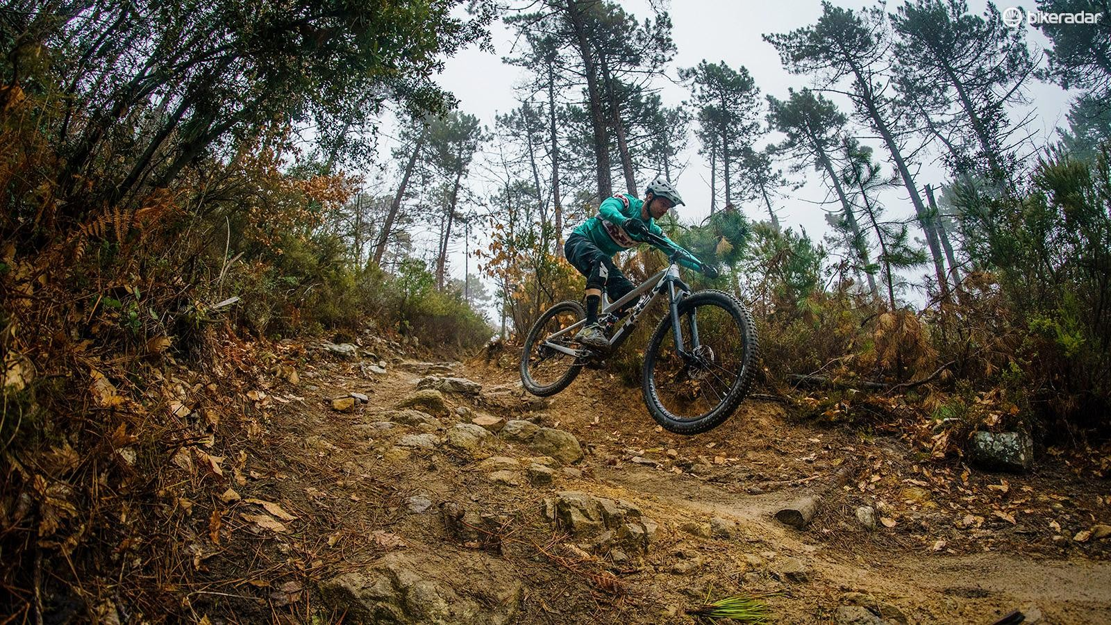 Despite cross-country roots, this is a bike that can handle air time