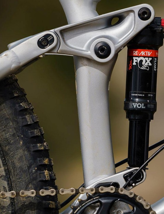 Trek's ABP suspension linkage suspends the shock between the swingarm and rocker link