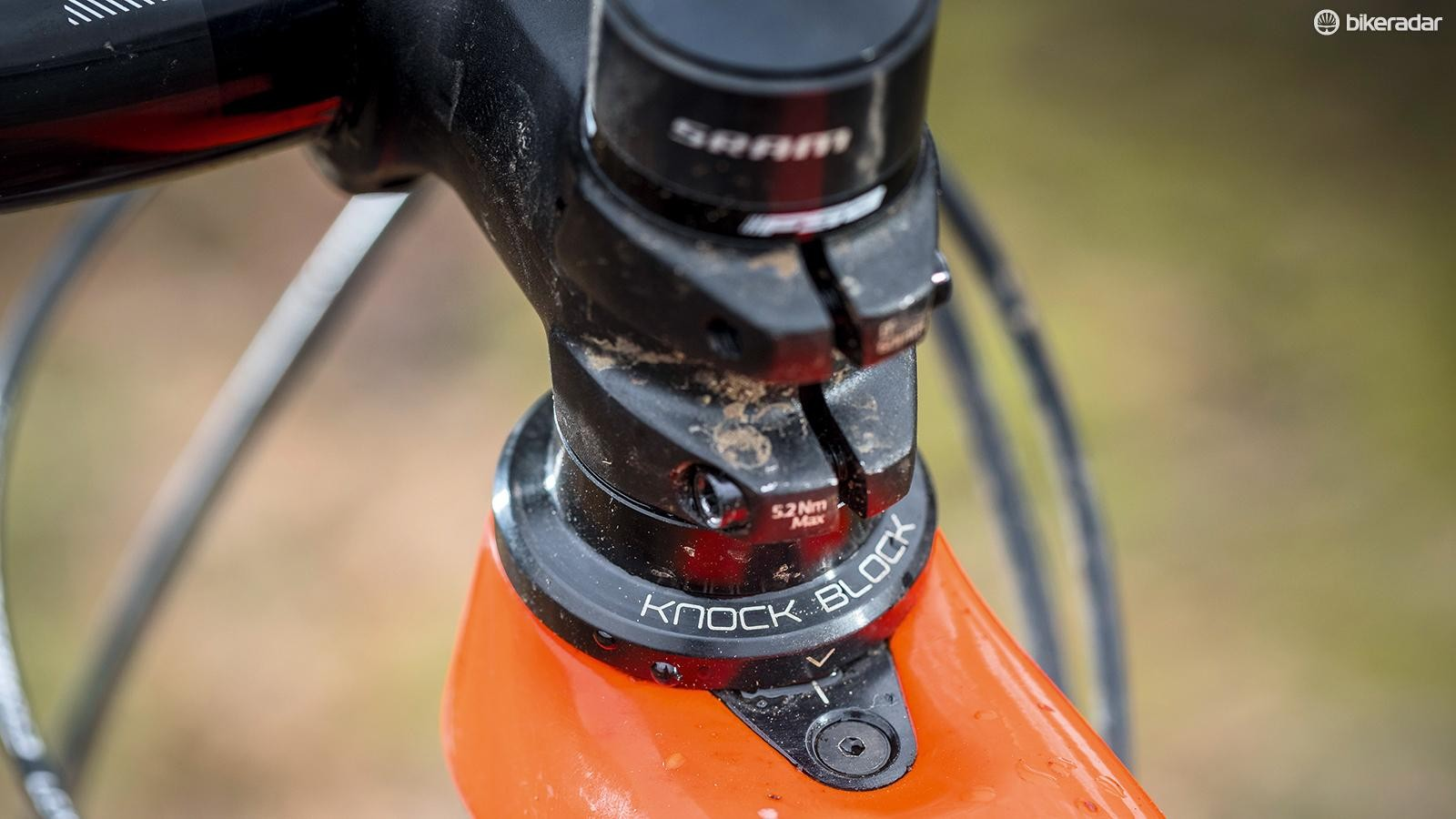 The 55mm Bontrager stem