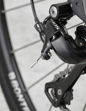 Shimano 105 11-speed gearing forms part of the Sport's speed-seeking spec