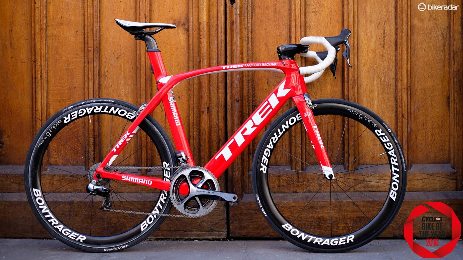 Our Trek Madone Project One Race Shop Limited didn't really do stealthy